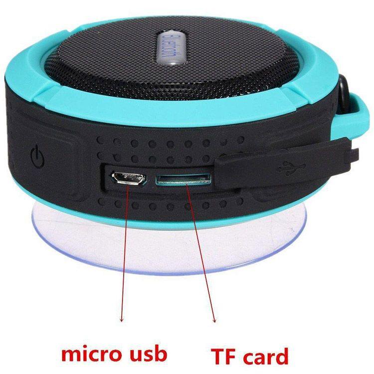C6 ao ar livre esportes chuveiro portátil à prova d 'água sem fio bluetooth speaker ventosa handsfree caixa de voz mic para iphone 6 ipad pc telefone