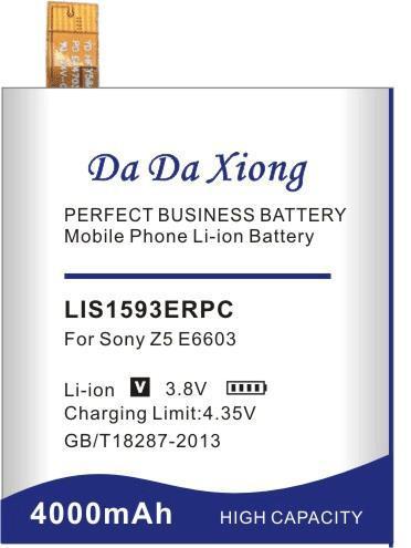 Да да Сюн 4000мАч LIS1593ERPC аккумулятор для Xperia Сони Z5 E6603 E6653 E6633 E6683 E6883