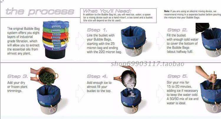 5 галлона 5 мешков Экстракты Bubble Hash Ice Extractor Мешок пузыря с свободной перевозкой груза