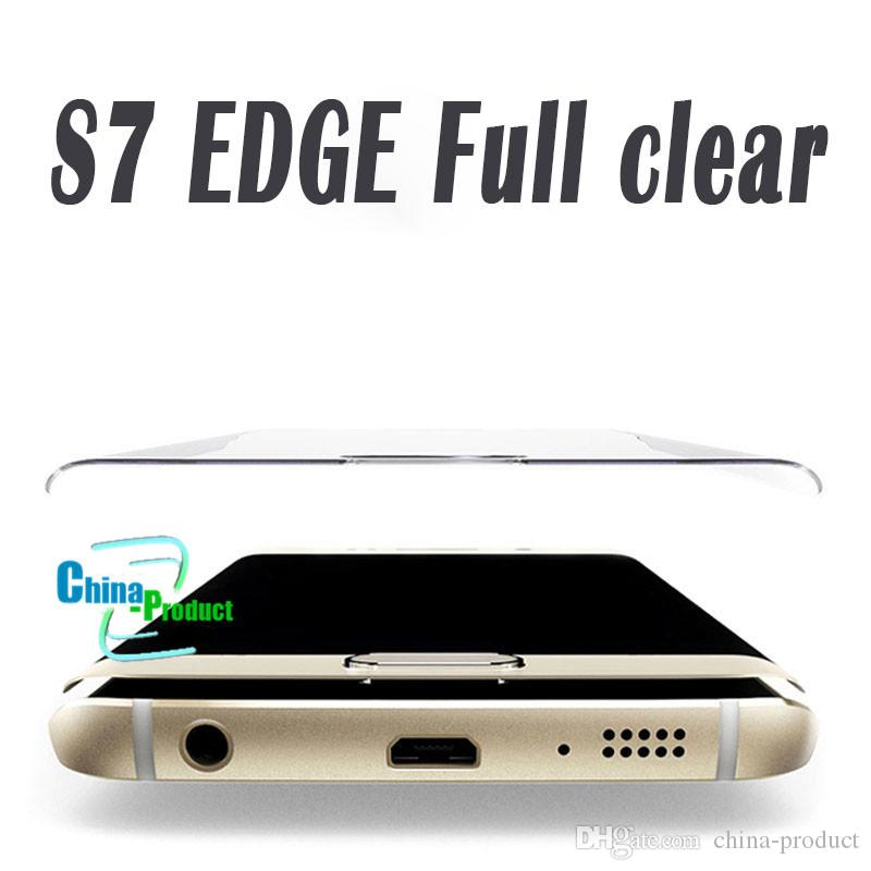 For Samsung S8 S8 Plus Galaxy S7 Edge S6 Edge + Full Coverage 3D Curved Tempered Glass Screen Protector with Retail box