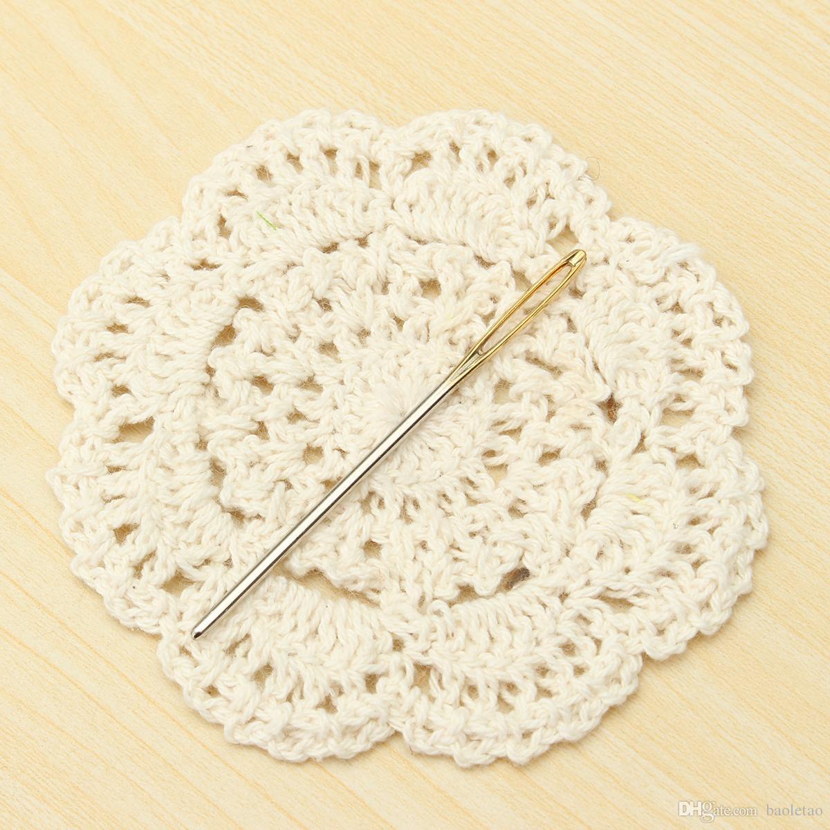 3 tailles grandes aiguilles à coudre à tricoter or oeil aiguille broderie tapisserie bricolage outils