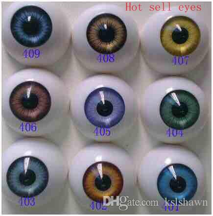 2017 Best selling round shape lovely Fashion Doll eyes acrylic eyes bjd doll accesories reborn doll toys parts 8mm to 22mm