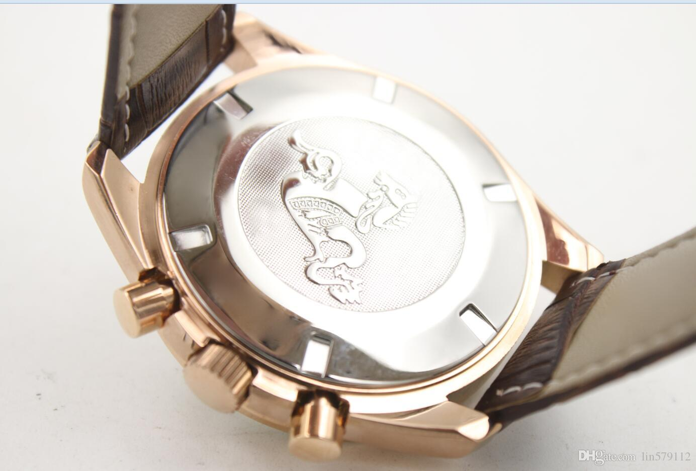AAA new shelves, luxury brands, high-quality gifts, belts, coaxial timing, 18K Royal stainless steel rose gold watch, free delivery