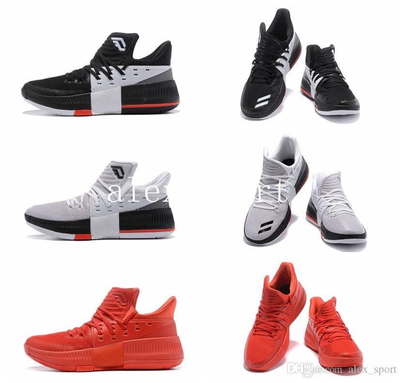 fa7afdd20b7c Dame 3 CNY Roots Rip City Red White Black Basketball Shoes On Tour Bounce  Techifit D Lillard 3 Version USA 712 Free Ship Jordans Shoes Sport Shoes  From ...