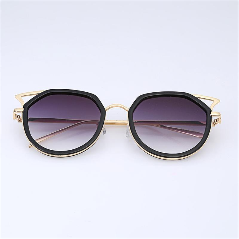 4b30234af52 Fashion Cat Eye Designer Sunglasses For Women Retro Luxury Sun Glasses With  Pierced Metal Frame Reflective Ray Protection UV400 Sunglass Designer  Sunglasses ...