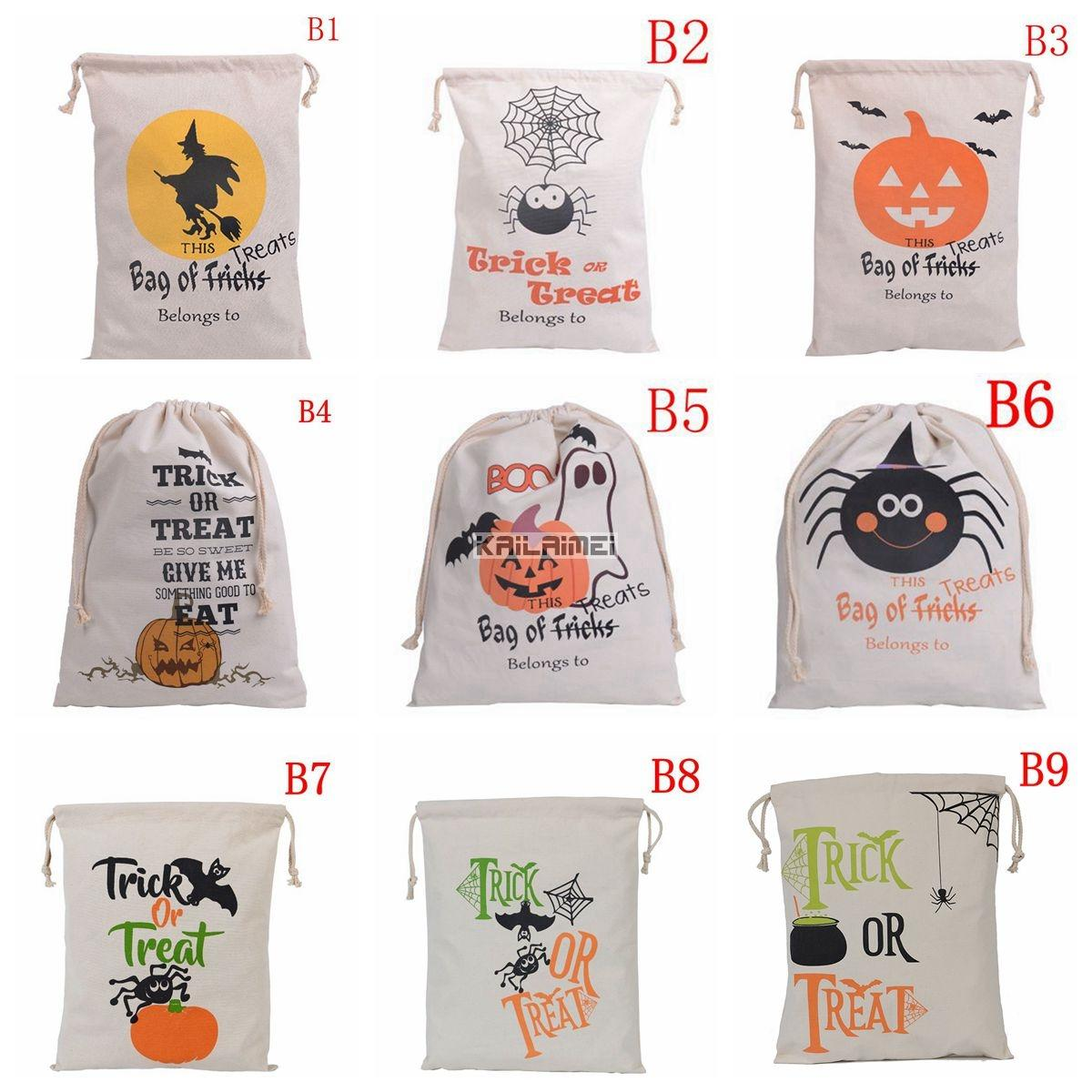 9 Style New Halloween Candy Gifts Bag Treat Or Trick Drawstring Bag ...