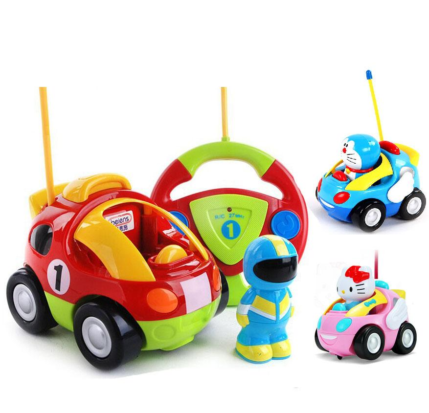 wholesale new baby boys girls remote control electric toy car kids rc car high speed cute cat musical light child car toys color random remote control car