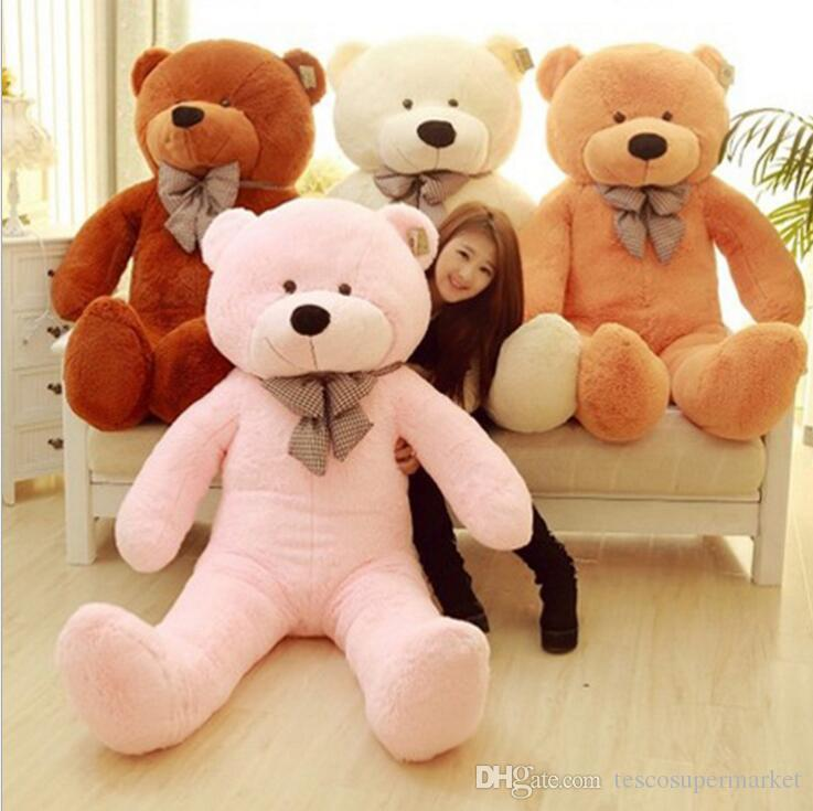 Factory direct sale fashion 250CM 8.2 FOOT Giant Huge plush teddy bears Holiday Gifts Valentines day Stuffed Plush toys EMS
