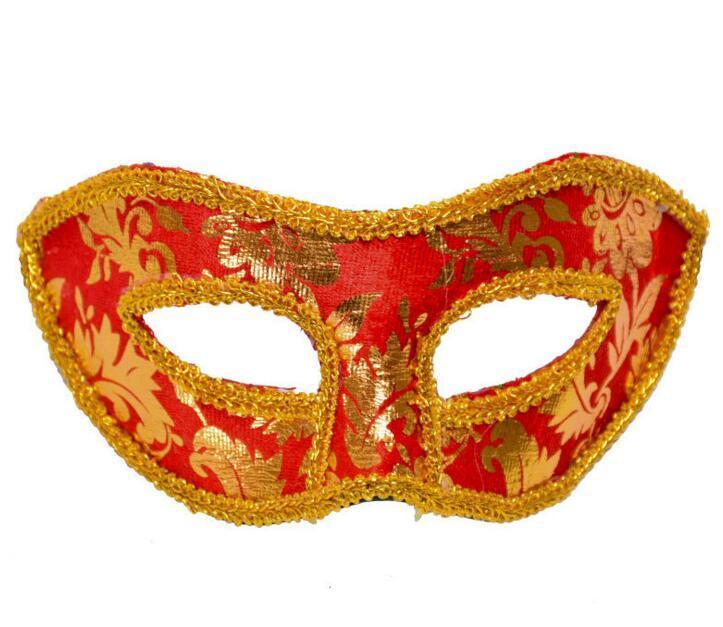 Хэллоуин Маскарад маска мужской Венеция Италия плоскую кружева яркие ткани маски 7цвет