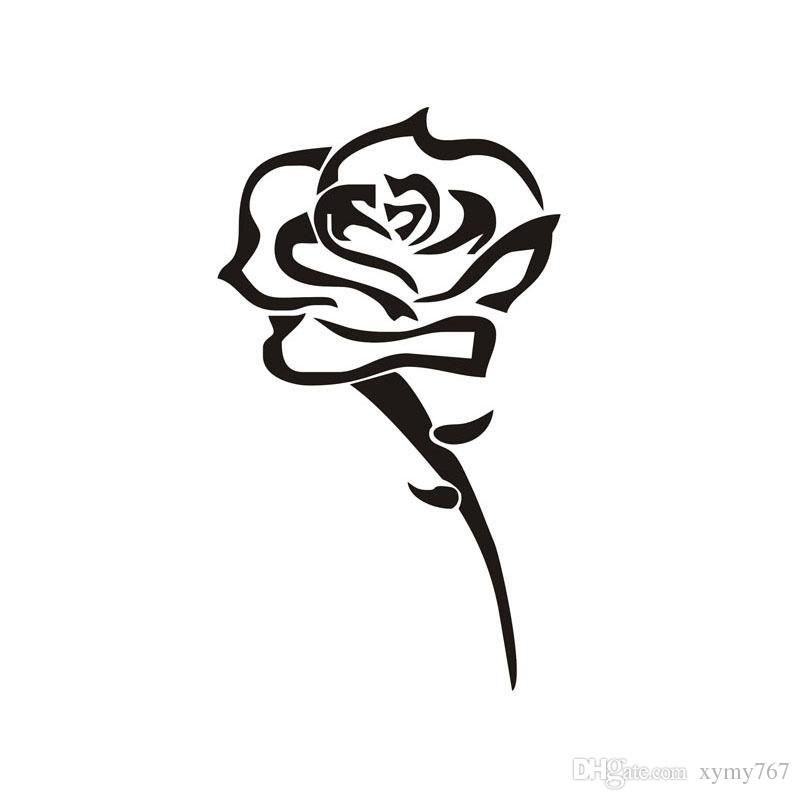 2018 rose flower car styling fashion attractive car bumper stickers vinyl decals removable car window art decoration from xymy767 1 31 dhgate com