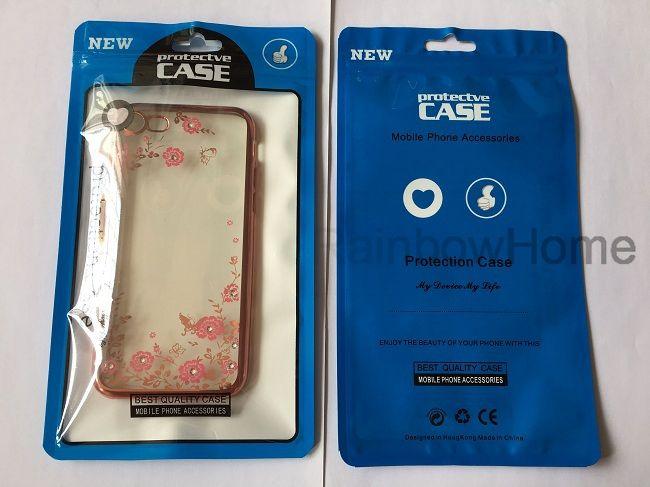 zip fermeture à glissière sac en plastique Paquet boîte au détail OPP sac pour iPhone XS Max XR 8 Plus Samsung S8 S9 Téléphone Housse en cuir couverture