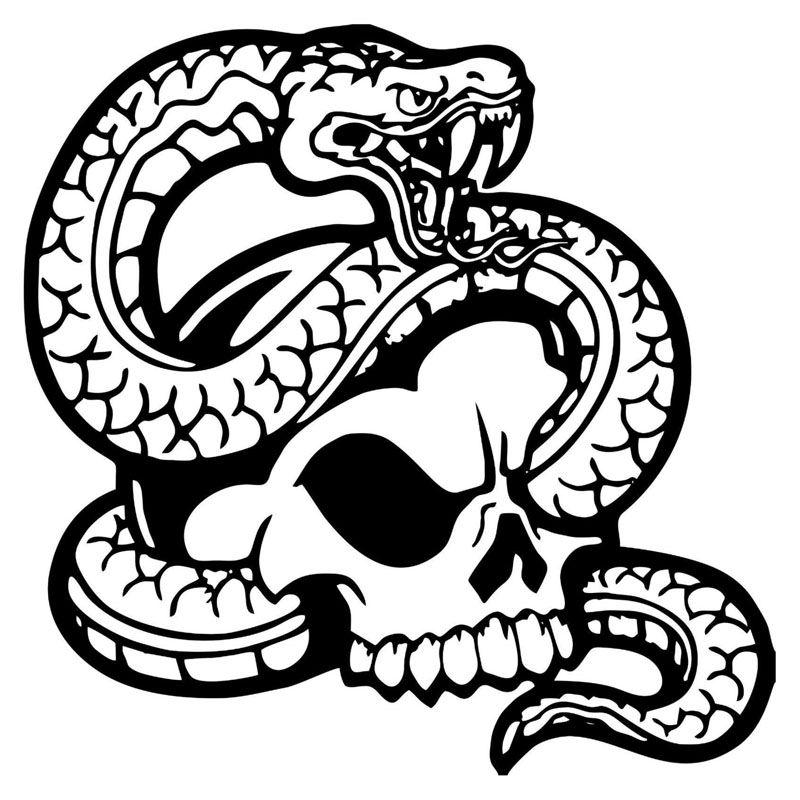 Online Cheap Classic Snake Car Sticker Scary Skull Skeleton Head ...
