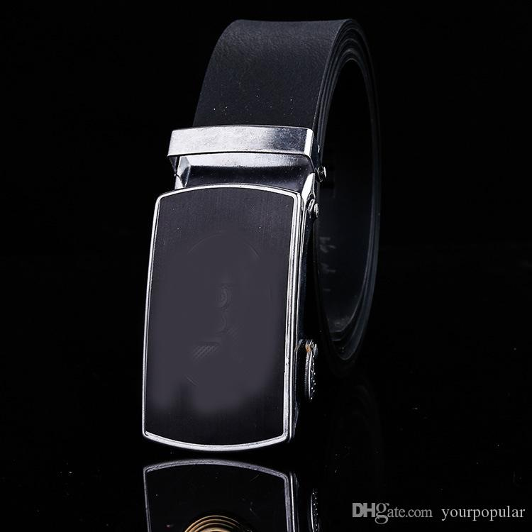 2017 Cheap Designer Leather Strap Male Belts Automatic Buckle Belt For Men Girdle Wide Men Belt Waistband cinto masculino