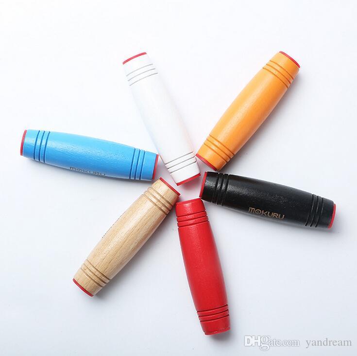 Hot sell New MOKURU Fidget Rollver Wooden Stick Desktop Toy Anti Stress Game Rollover Bar Spinner Decompresses Novelty Toys