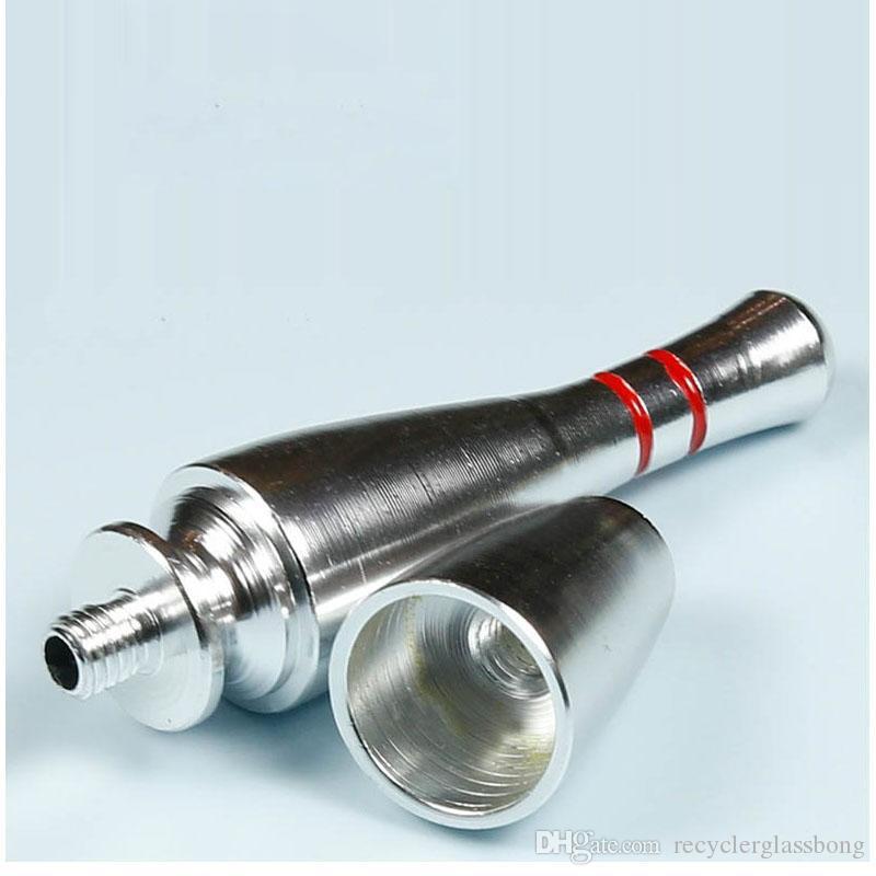 Quilles Pipe À Main Pipe À Main Portable Cadeau Mini Pipe Couleurs Mixtes Pipes à Tabac pour Herb Livraison Gratuite