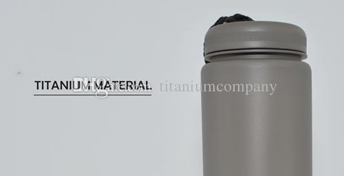 Saf Titanyum 650ml Halat Mat Yüzey ile Doğrudan Içme Suyu Şişesi Anti-korozyon Açık Havada Kamp için Dayanıklı Hafif 210g