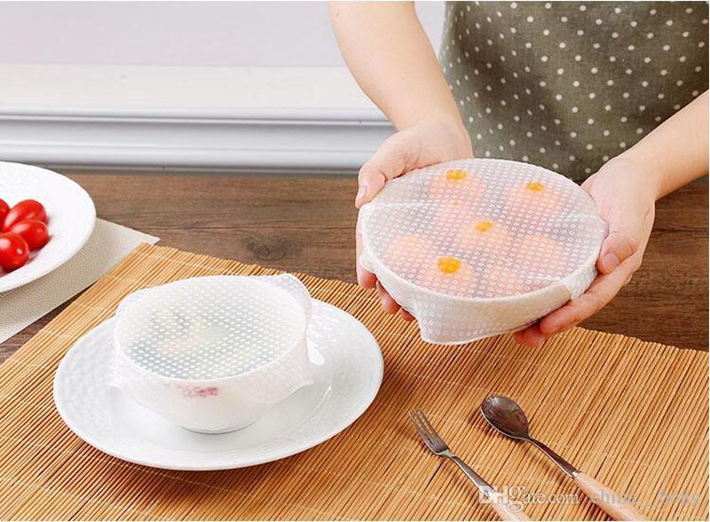 السيليكون التفاف الطبق الميكروويف غطاء ساحة شكل سيليكون وعاء غطاء المطبخ أواني غطاء الغذاء تمتد غطاء 10 * 10 سنتيمتر 15 * 15 سنتيمتر 20 * 20 سنتيمتر