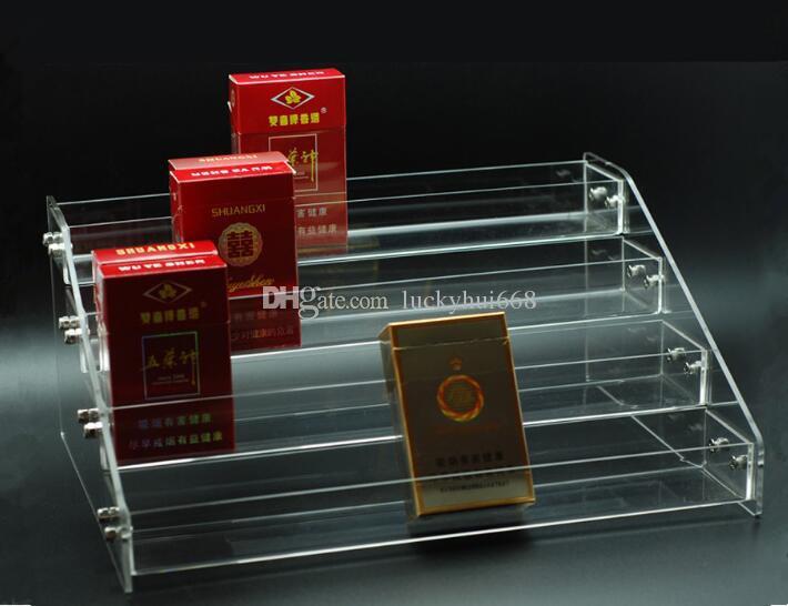 4 طبقات متعددة الوظائف ماكياج التجميل عرض موقف واضح الاكريليك المنظم ماك أحمر الشفاه حامل عرض المجوهرات أحمر الشفاه مسمار البولندية الرف