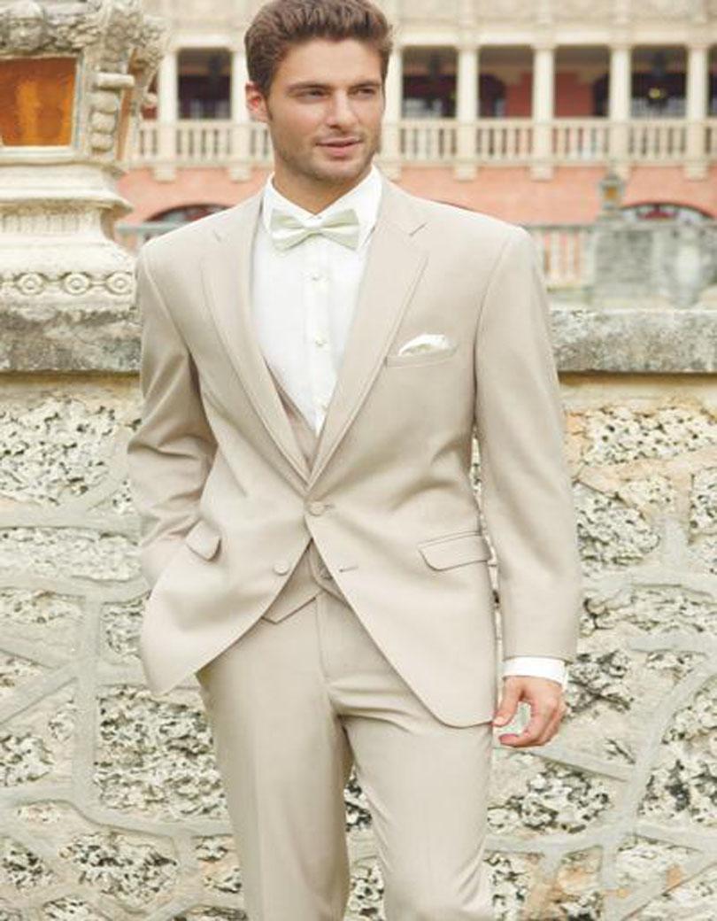 2018 Wholesale 2017 Ivory Wedding Suits For Men Champagne Tuxedo ...