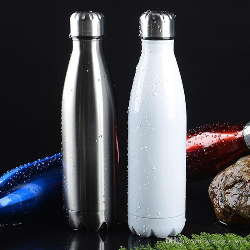 100 шт. Оптовая Кола в форме бутылка Кола Бутылка воды Лето Продвижение 17 oz / 500ml Кола в форме воды Бутылка воды 304 Нержавеющая сталь
