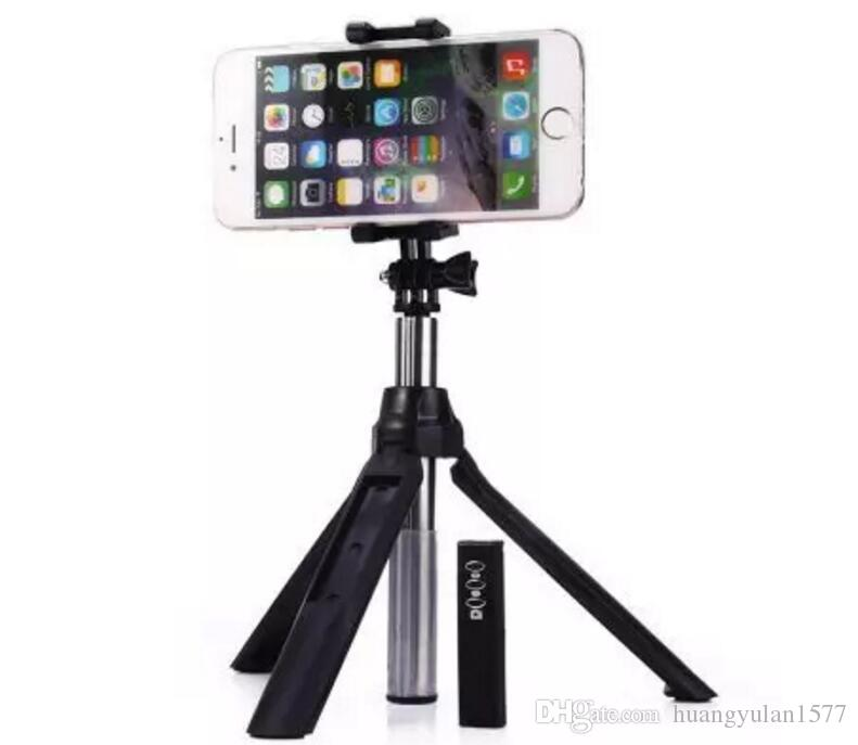 Tripod selfie stick with zoom mirror built-in remote shutter button extendable universal multi function bluetooth wireless selfie