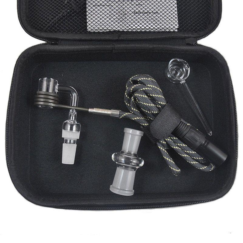 Banger E Quartz Prego Dab Elétrico Prego Kit Caixa Quartz Nail Carb Cap 14 18 MM Masculino Controlador de Temperatura Rig vidro Bongs