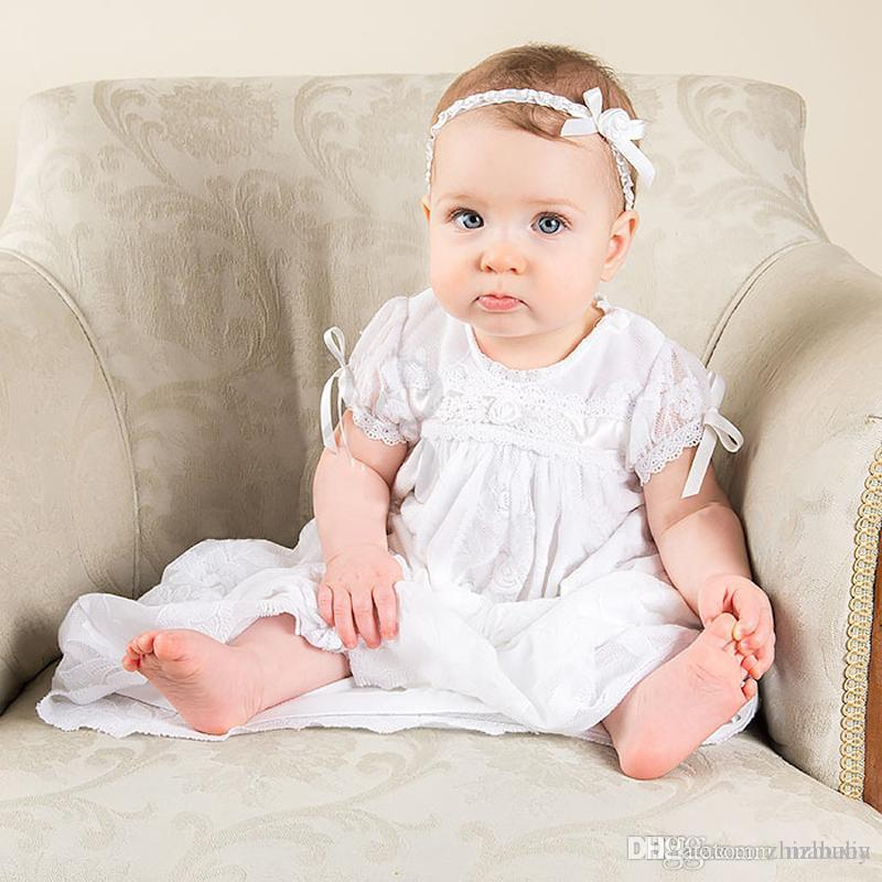 Online Cheap New Noble Baby Girl Baptism Gown White Christening ...