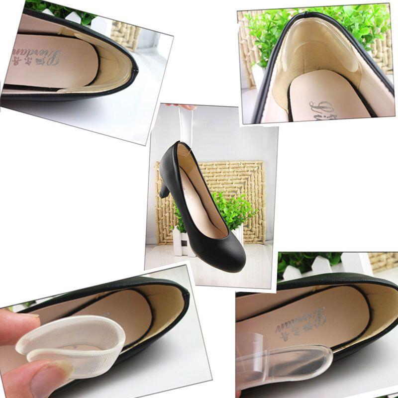 Toptan Kendinden yapışkanlı Ayakkabı Tabanlık Topuk Macun Silikon Jel Kaymaz Ped astarı Ayak Bakımı Topuk Yastık Koruyucu Kabartma Jel Topuk Astar Gri