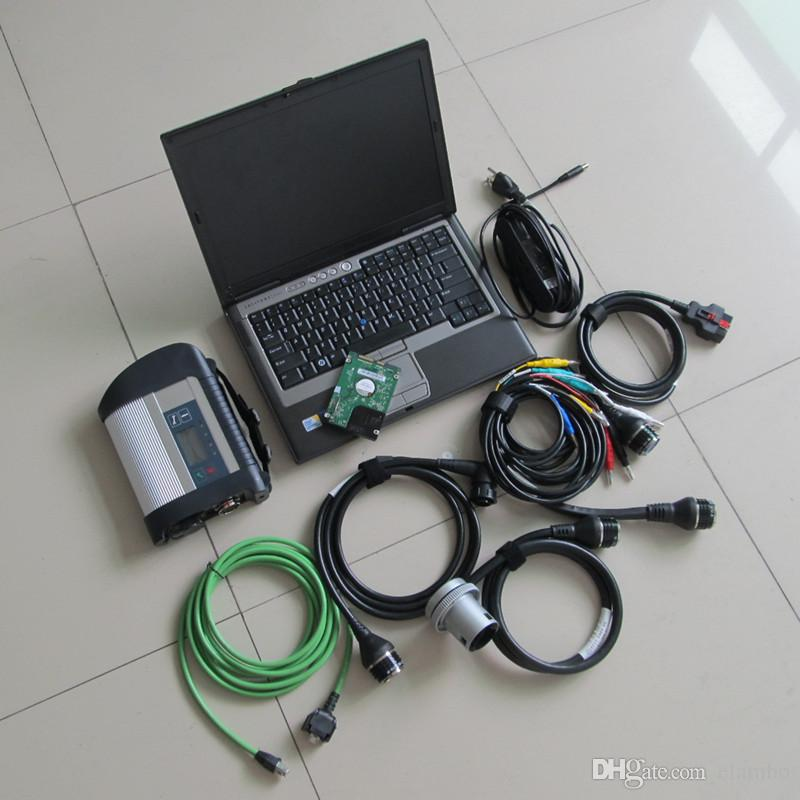 MB SD conecta 4 MB estrella C4 2019.12 DAS Xentry con D630 Laptop software multi-idiomas listo para usar