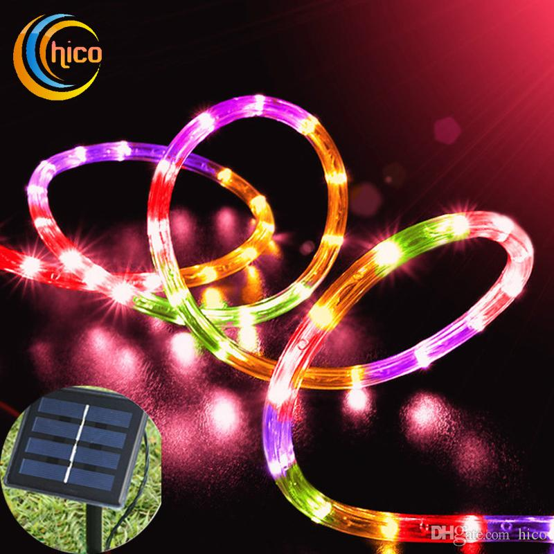 led christmas lights put in solid tube solar power led lights string solar outdoor led string lights garden 12m 100 leds outdoor waterproof led battery