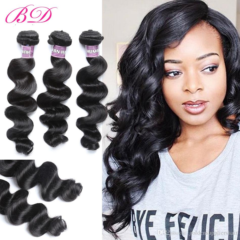 Cheap bd loose wave human hair extensions black raw human hair cheap bd loose wave human hair extensions black raw human hair bundles 34 bundles one set quad weft hair extensions european hair extensions weft from pmusecretfo Image collections