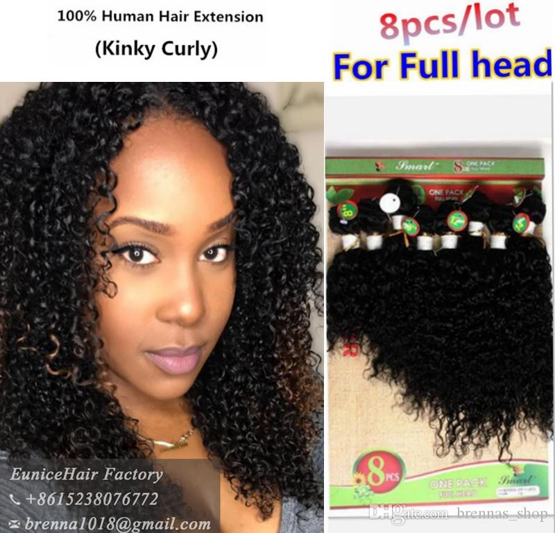 Brazilian Hair Weave Bundles Kinky Curly Human Hair Extensions Afro