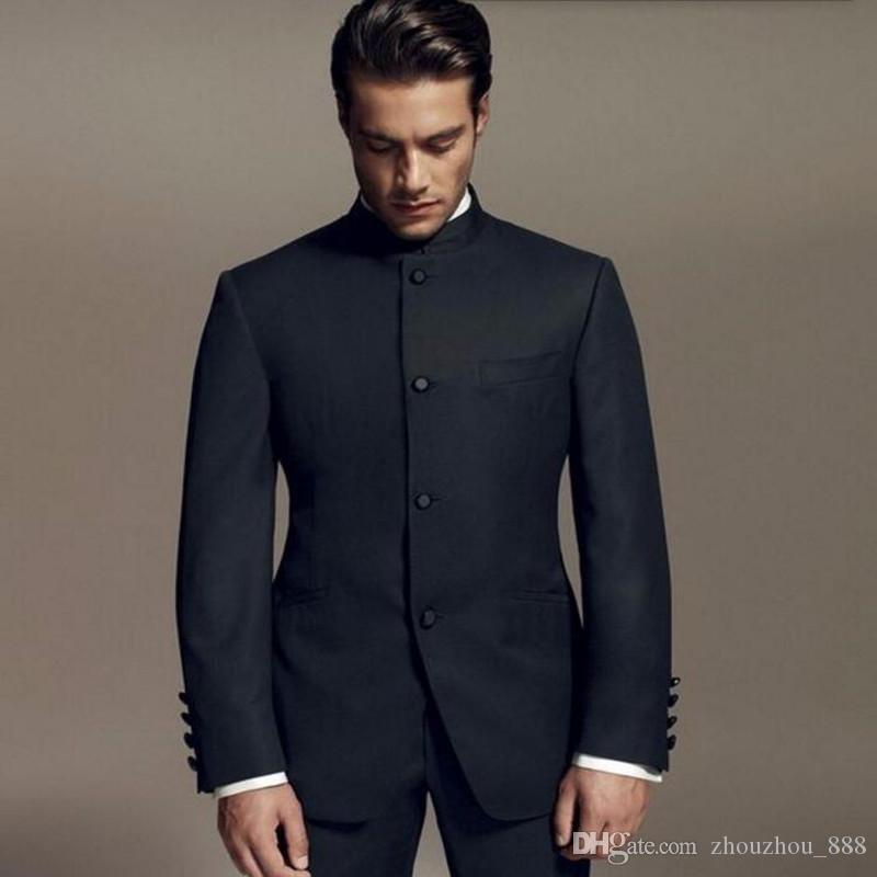 Novio Últimos Trajes Lee Tuxedos Compre Diseños Bruce Negro Style De KFTqTRaUwX
