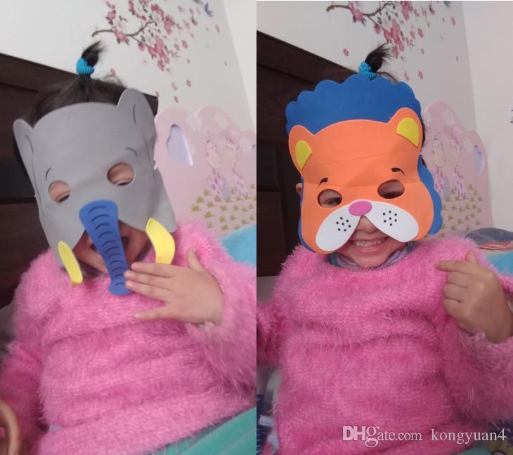 10 stücke Maske Birthday Party Supplies EVA Schaum Tier Masken Cartoon Kinder Party Dress Up Kostüm Zoo Jungle Maske Party Dekoration