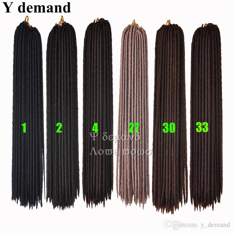 "One Pack 100g 18"" Burgundy Color 100% Kanekalon Crochet Twist Braids Synthetic Soft Dread Locks Faux Locs Braid Hair Extensions"
