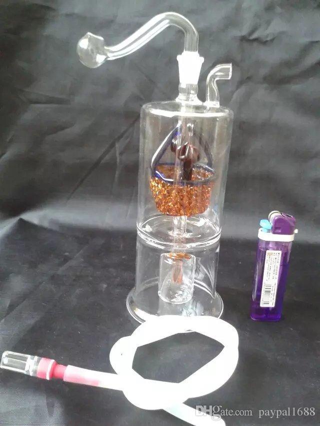 Çiçek sepeti nargile cam bongs aksesuarları, Renkli Boru Sigara Kavisli Cam Borular Yağı Brülör Boruları Su Boruları Dab Rig Cam Bongs P