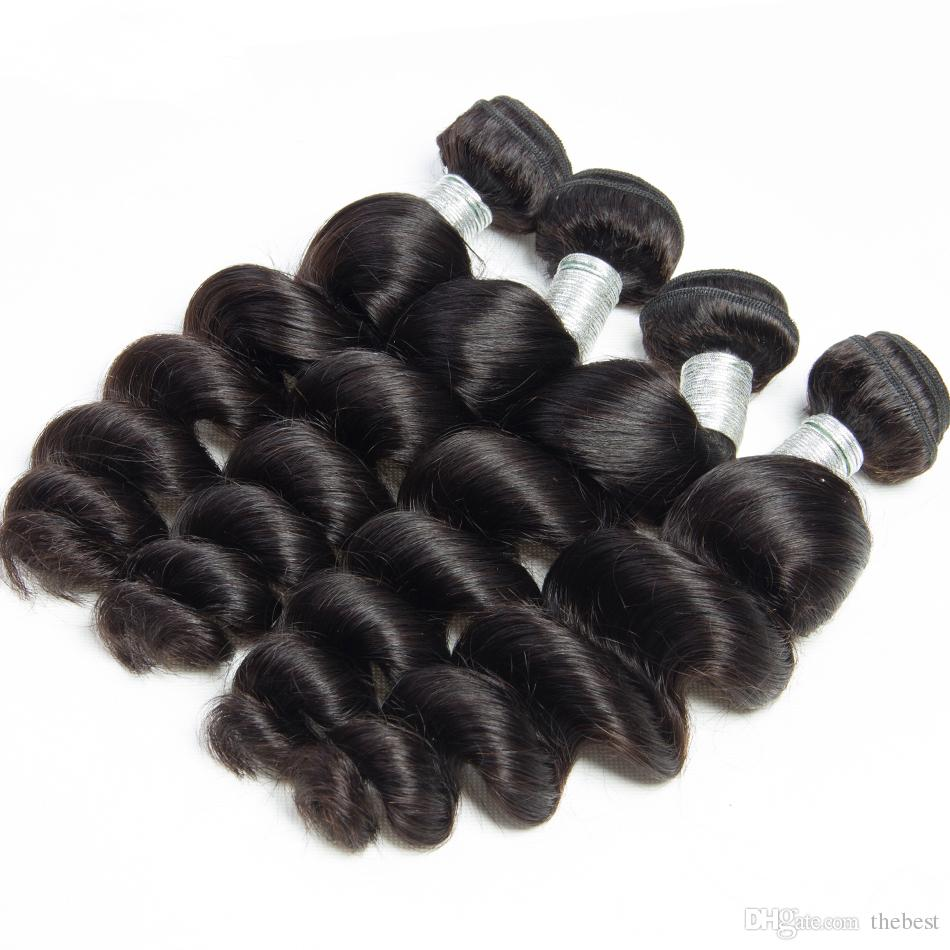 غير المجهزة بيرو العذراء الشعر فضفاض موجة 8