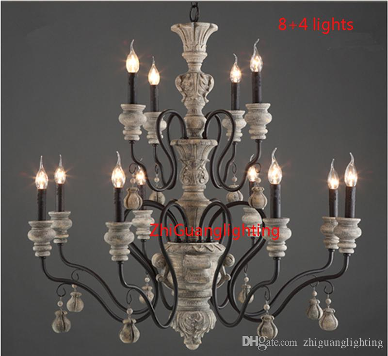 vintage country chandelier retro creativity lighting tree branch lights Village rustic wrought iron chandelier Restaurant F9078
