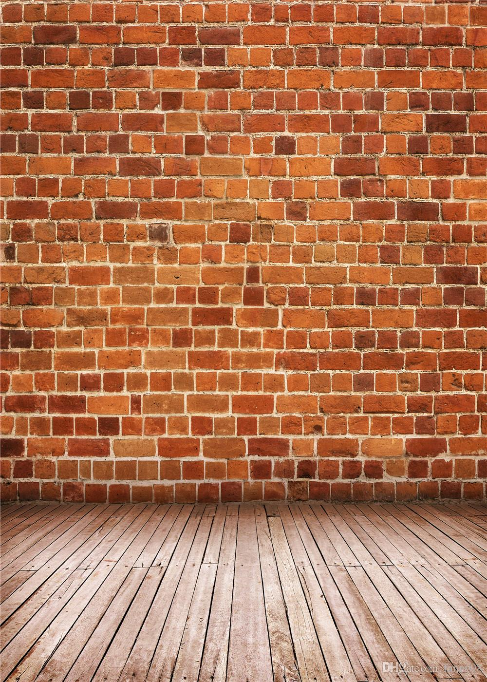 2018 5x7ft150x210cm Red Brick Wall Photo Studio Background Grey Wood Floor  Photography Backdrops For Newborn Studio From Fanny08, $22.72 | Dhgate.Com