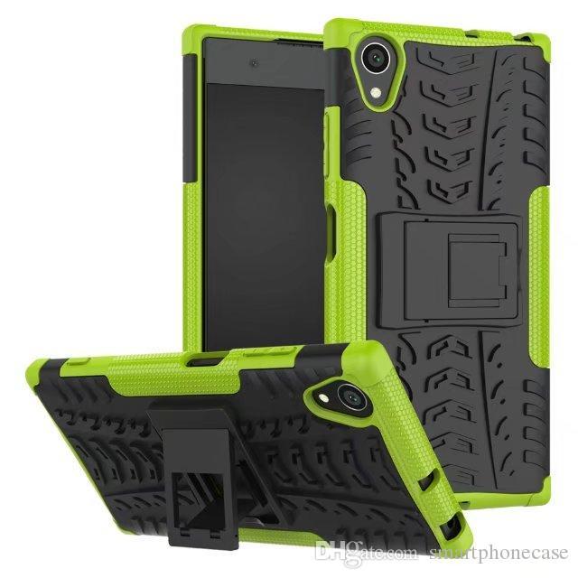 Dla Sony Xa1 Plus Case Case Combo Hybrid Armor Nowy Wspornik Kabura Protective Cover Case Dla Sony Xperia Xa1 Plus