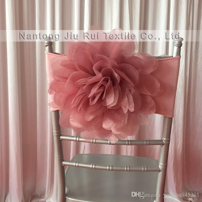 Very very Popular Romantic Fantastic /Blush /Pink 35cm dia Lycra Chiavari Chair Band For Wedding Use