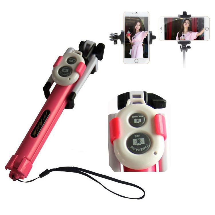 무료 배송 브랜드 삼성 전자에 대한 무선 버튼 셔터 Selfie 스틱과 함께 새로운 접이식 삼각대 Monopod Selfie 스틱 블루투스