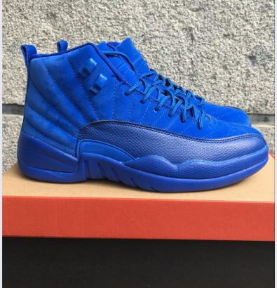 Classic 12 ovo 12s basketball shoes flu game french blue the master wool gym red black white wings taxi cherry suede sneakers