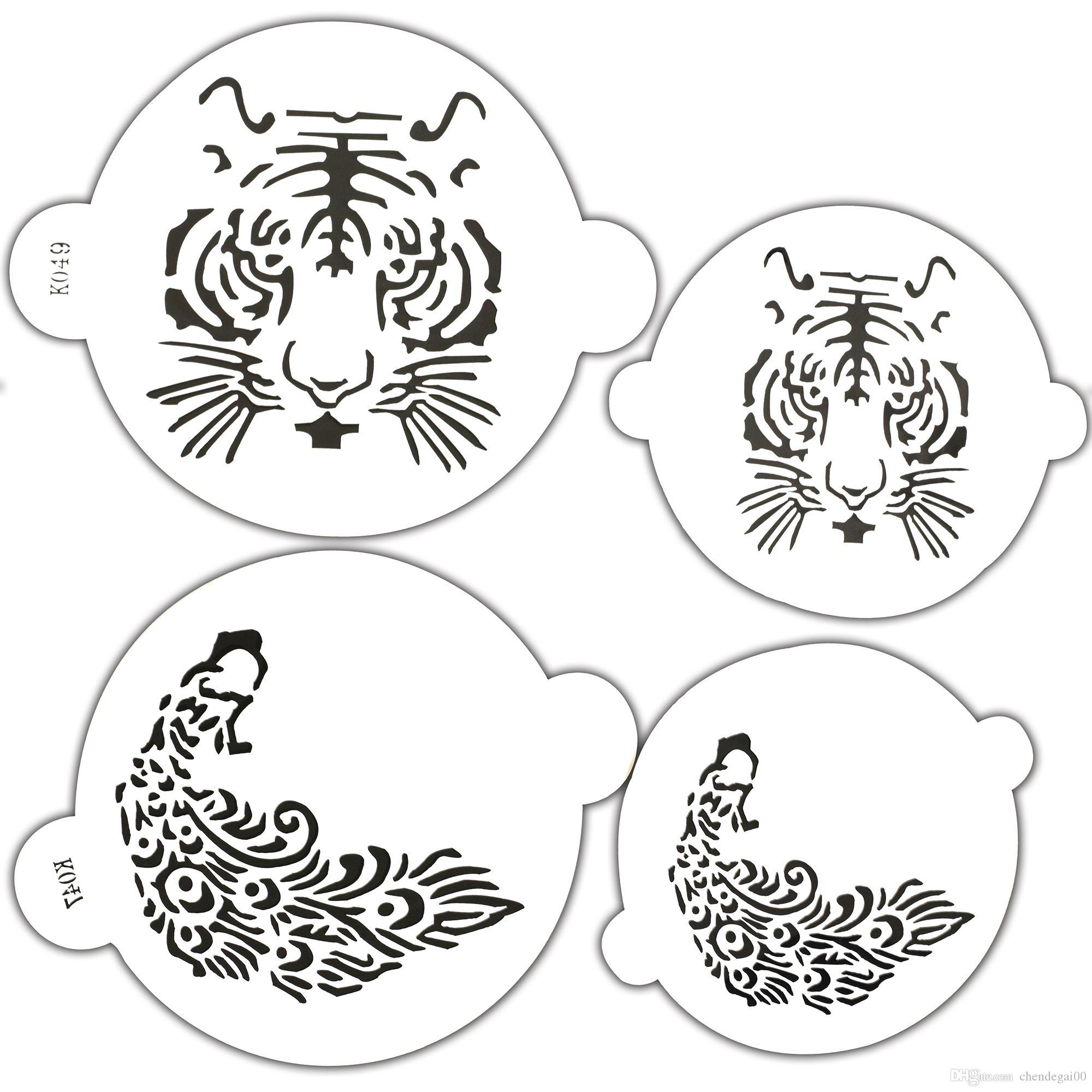 Acheter Pochoir à Gâteau En Plastique Translucide Tigre Et Phoenix