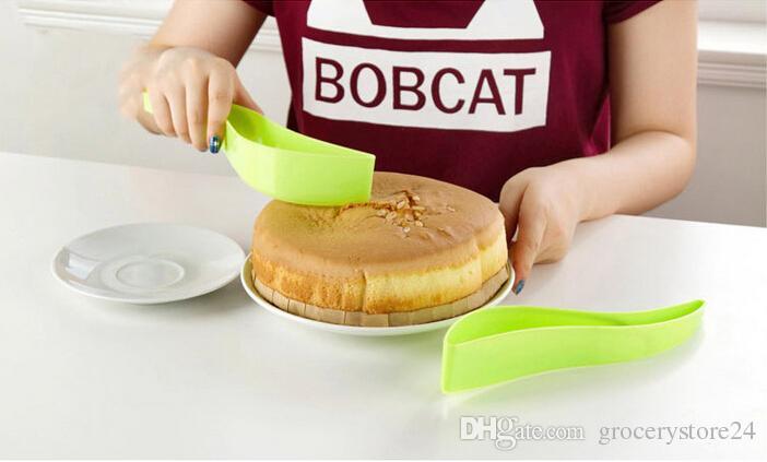 Cake Server Cake Knife Pie Slicer Sheet Guide Cutter Server for Wedding Party Bread Slice Knife Kitchen Gadget