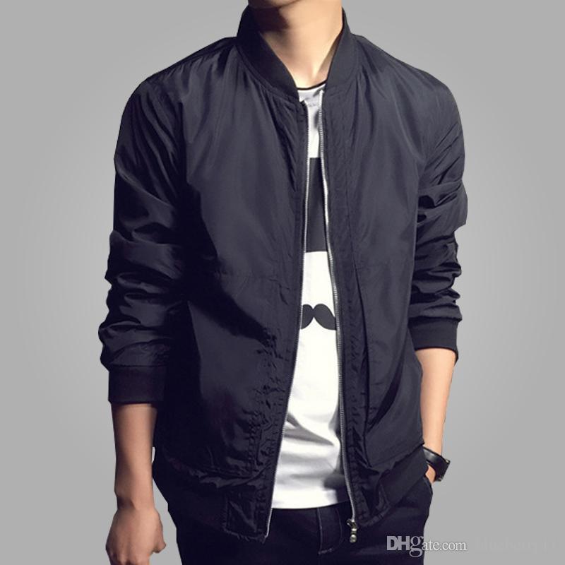 패션 거리 남자 의류 의류 블랙 망 재킷 멀티 색상 파일럿 비행 재킷 남자 방수 남자 폭탄 재킷