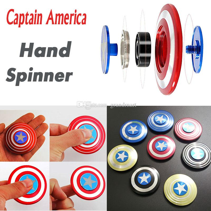 Creative Captain America Shield Hand Spinner Iron Man Fid Alloy