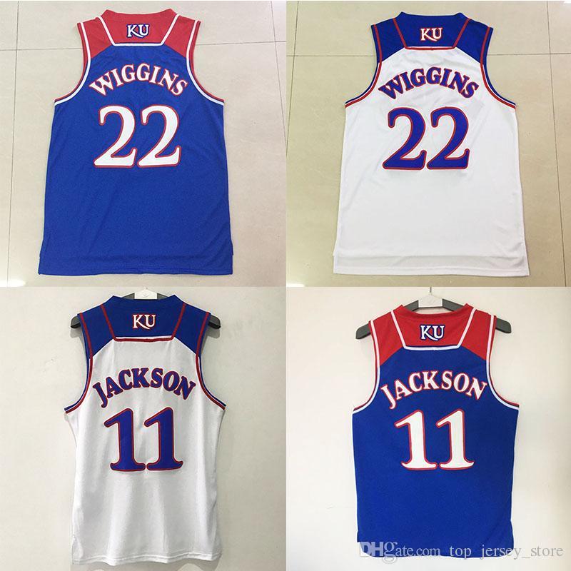 2e81ee79ec90 2017 new kansas jayhawks college basketball jerseys 11 josh jackson 22  andrew wiggins ...
