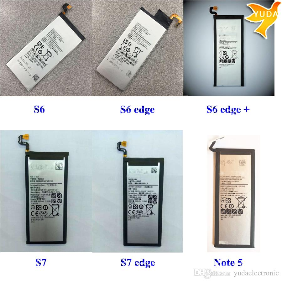 Mobile Phone Batteries For Samsung Galaxy S6 Edge Plus S7 Note 2 Original Battery 3600mah 5 High Quality