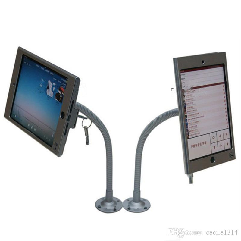 New Flexible wall mounted desktop mount tablet security anti-theft stand display case holder lock bracket for Ipad mini 1/2/3/4